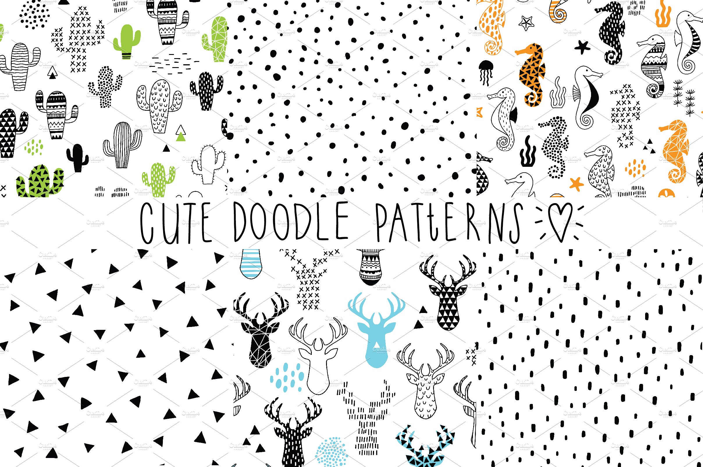 doodle cute patterns graphic creative
