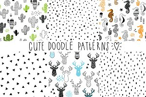 cute doodle patterns