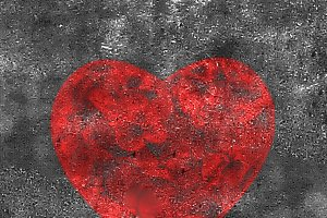 Heart Shape Grungy Background