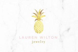 Luxury Pineapple Gold Logo