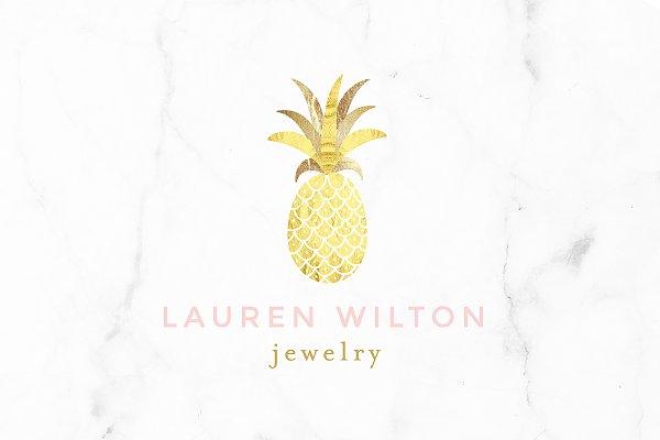 Luxury Pineapple Gold Logo