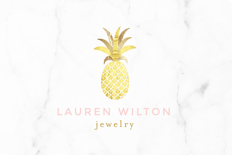 Luxury Pineapple Gold Logo Logo Templates Creative Market