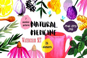 Natural Medicine Watercolor Set