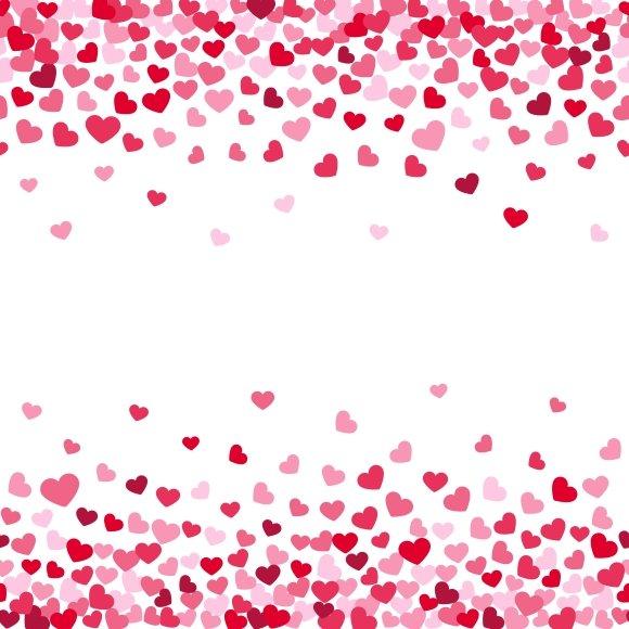 Valentine Hearts Confetti Frames