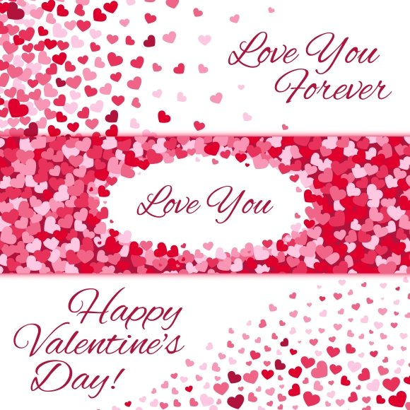 Valentines Day Love Banners