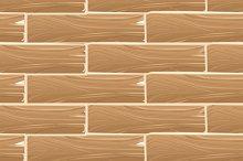 Wooden planks board seamless pattern