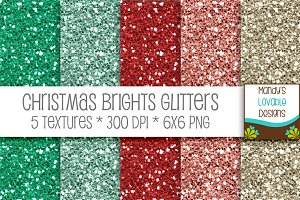 Christmas Brights Digital Glitter