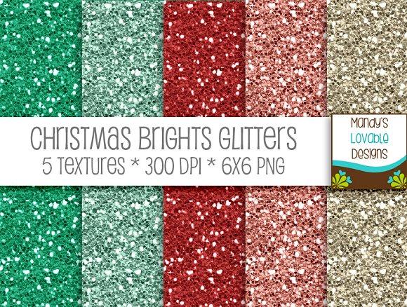 Christmas Brights Digital Glitter
