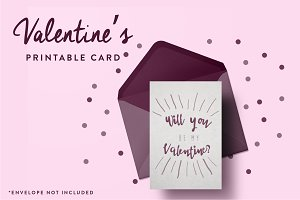 Will You Be My Valentine? Printable