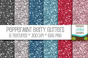 Peppermint Berry Glitter Textures