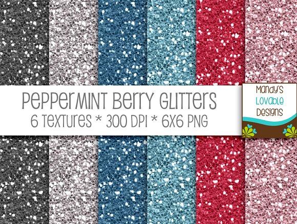 Peppermint Berry Glitter Textures