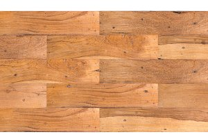 Old wooden planks jointed into panel