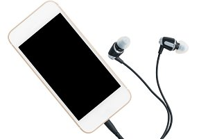 Smartphone music player and earbuds