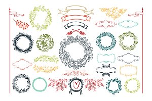 Decorative design elements set