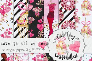 Love is All We Need Digital Paper