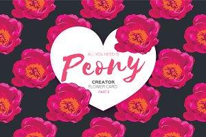 Pink Peony. Creator. Invitation card
