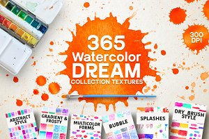 365 Watercolor Dream Textures