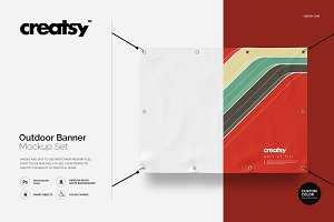 Outdoor Banner Mockup Set