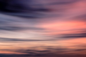Defocused sunset sky