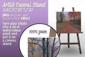 Artist Canvas Stand Mockup