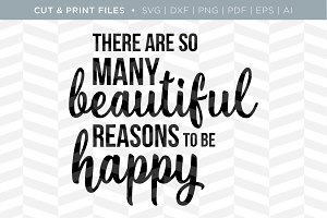 Be Happy SVG Cut/Print Files
