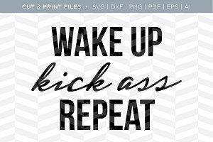 Wake Up SVG Cut/Print Files