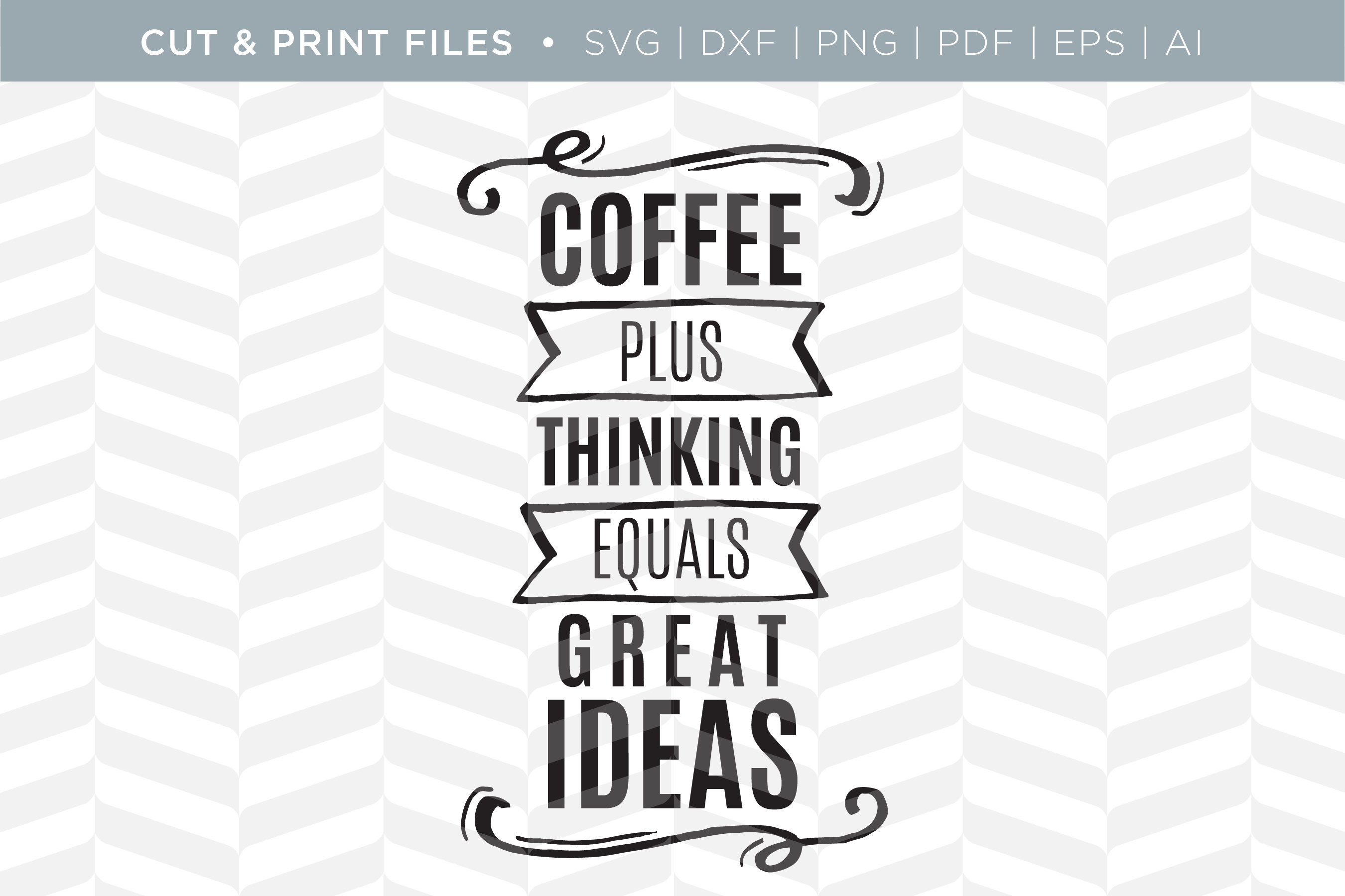 Coffee Svg Cut Print Files Pre Designed Illustrator Graphics Creative Market