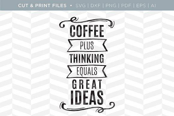 Coffee SVG Cut/Print Files