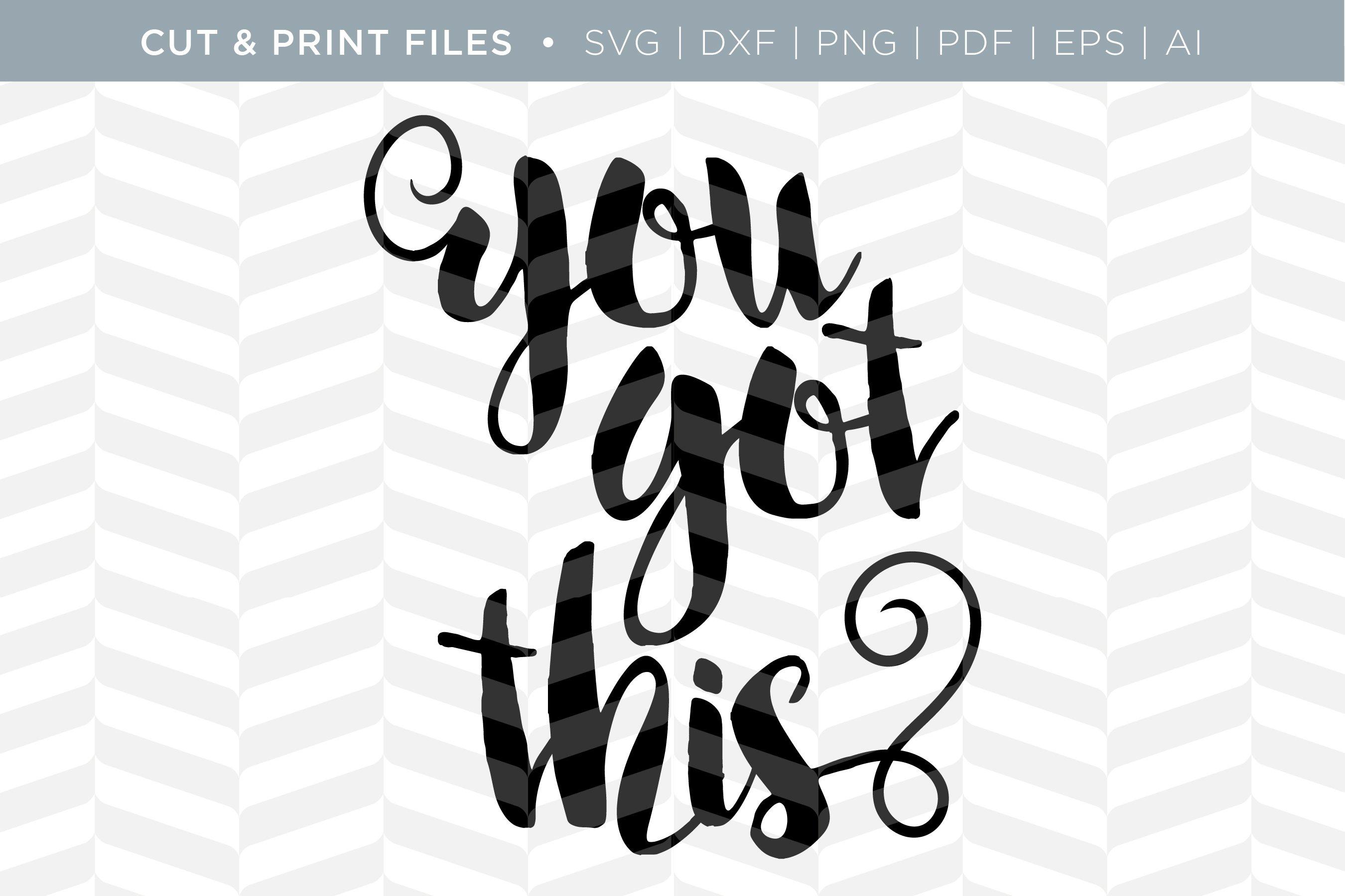 You Got This Svg Cut Print File Pre Designed Illustrator Graphics Creative Market