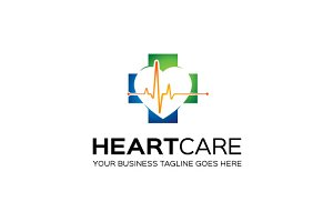 HeartCare Logo Template
