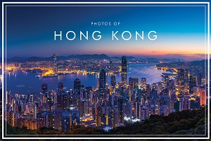 Panorama view of Hong Kong