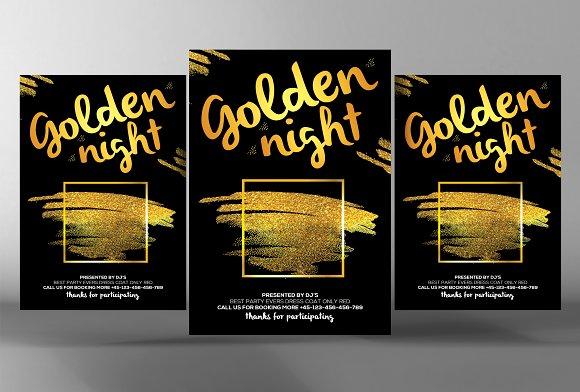 Gold Minimal Flyer