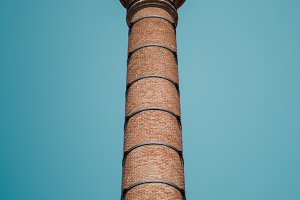 brick chimney with arrester on top