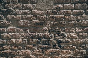 Brick wall architectural background