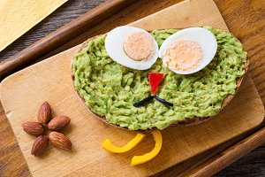 Avocado sandwich for kids
