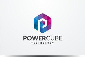 Power Cube - Letter P Logo