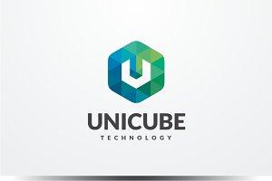 Uni Cube - Letter U Logo