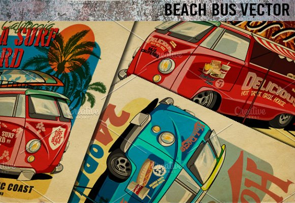 BEACH RETRO BUS