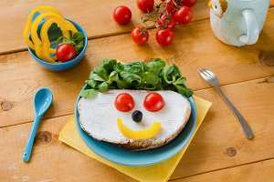 Funny breakfast for kids