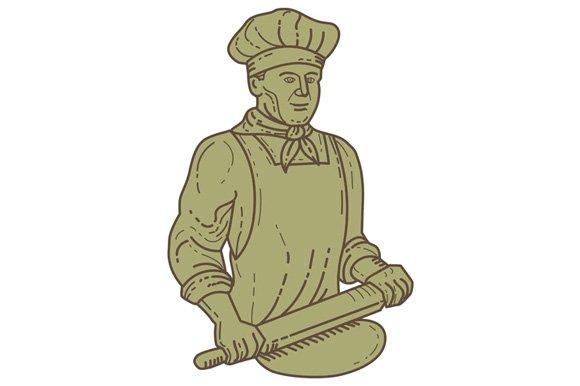 Baker Chef Rolling Pin Dough