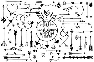 Arrow Doodle Clipart and Vector Set