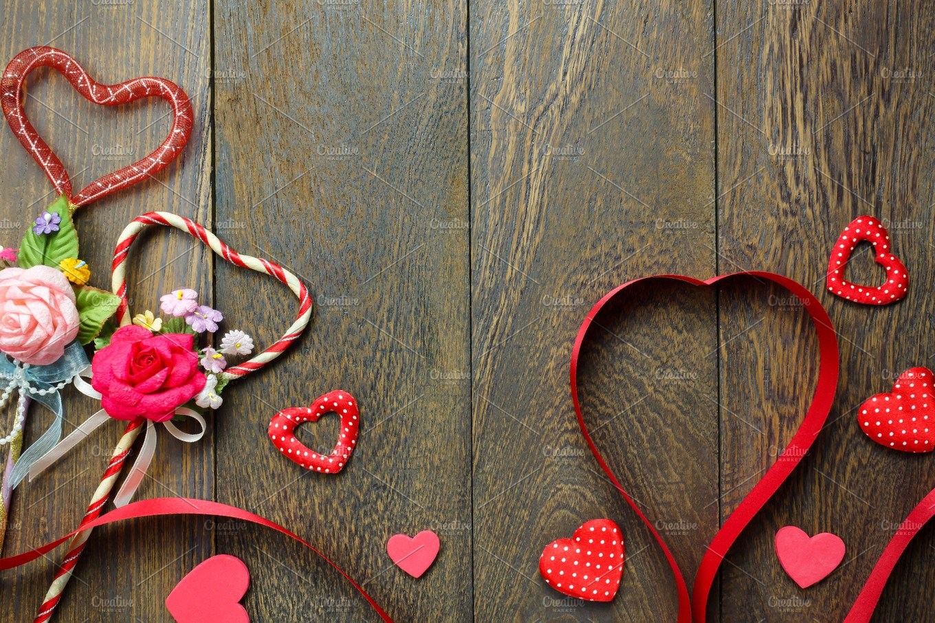 Top view valentine day background holiday photos creative market - Background for valentine pictures ...