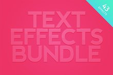 Text Effects Bundle for Photoshop