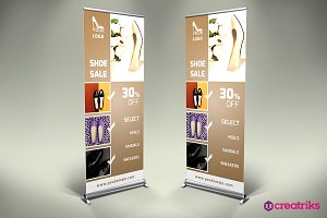Shoes Shop Roll Up Banner