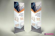 Dorw & Windows Roll Up Banner - v097