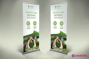 Green Energy Roll Up Banner