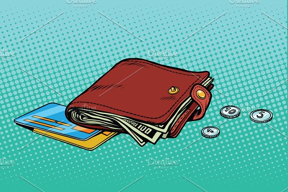 Wallet With Credit Card And Cash
