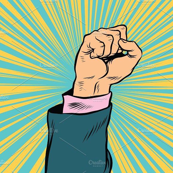 Pop Art Fist Up A Symbol Of Protest