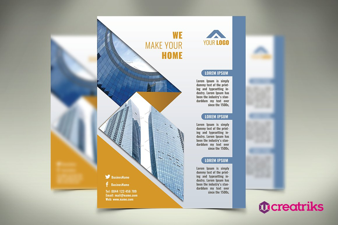 Architecture Flyer Flyer Templates Creative Market