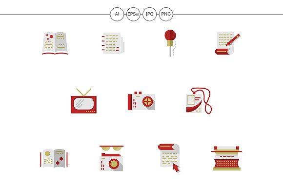Media Publishing Flat Color Icons